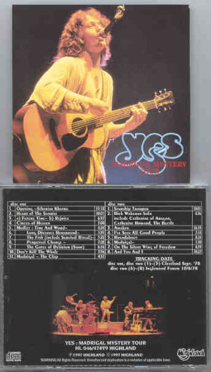 Yes - Madrigal Mystery Tour ( Highland ) ( 2 CD!!!!! SET ) ( Cleveland , Sept '78 + Inglewood Forum 10-6-1978 )