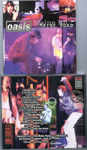 Oasis - Maine Road ( The Maine Road , Manchester , England , April 27th , 1996 ) ( KTS )