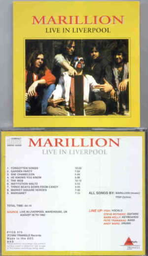 Marillion - Live In Liverpool ( Triangle ) ( Liverpool , Warehouse , UK , August 26th , 1982 )
