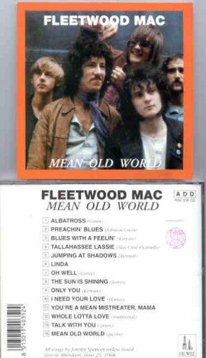 Lindsey Buckingham Fleetwood Mac - Mean Old World ( Oil Well Recs. ) ( Live in Aberdeen , June 23rd , 1968 )