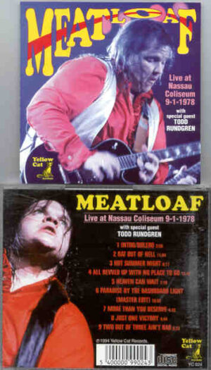 Meat Loaf - Live At Nassau Coliseum  ( With Todd Rundgren  9 - 1 - 1978 ) ( Yellow Dog )