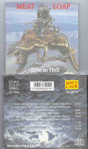 Meat Loaf - Live In Hell ( Live in USA 1993 )