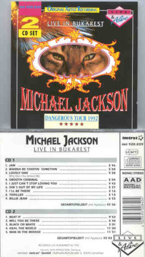 Michael Jackson - Bukarest 1992 ( 2 CD!!!!! set )