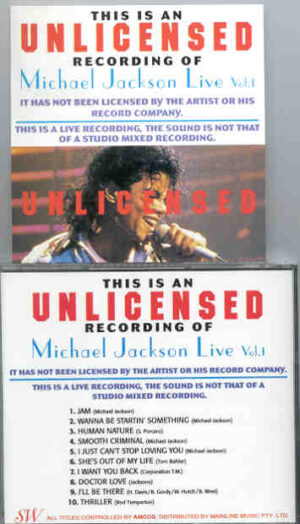Michael Jackson - Unlicensed Vol. 1 ( European Dangerous Tour 1992 )