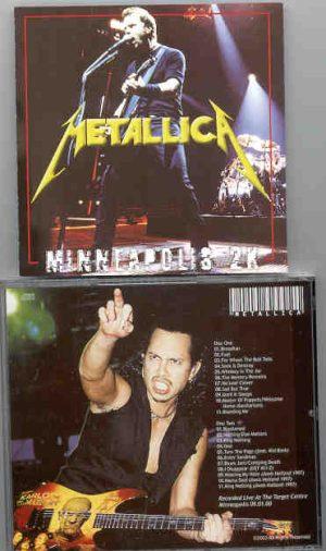 Metallica - Minneapolis 2X ( 2 CD!!!!! set ) ( Live At The Target Centre , Minneapolis , 09-01-00 )