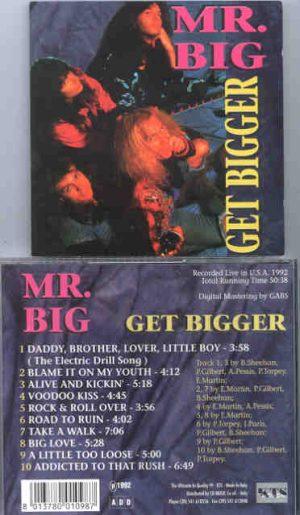 Mr. Big - Get Bigger ( KTS ) ( Live In The USA , 1992 )