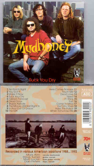 Mudhoney - Suck You Dry  ( Pluto Recs ) Live in USA 1988-1992