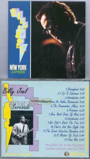 Billy Joel - New York City Serenade ( Oh Boy Recs. ) ( New York 1990 )
