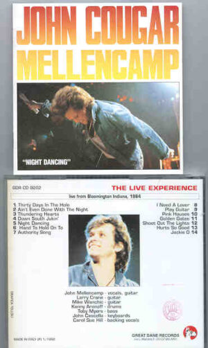 John Cougar Mellencamp - Night Dancing ( Bloomington , Indiana , 1984 ) ( Great Dane Recs )