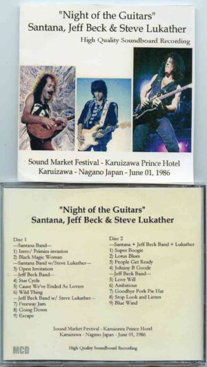 Jeff Beck - Night Of The Guitars ( Santana , Beck & Steve Lukather ) ( 2 CD!!!!! ) ( Nagano , Japan , June 1st , 1986 )