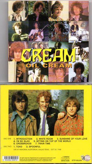 Cream - Oil Cream ( Cream Live At Memorial Auditorium , Dallas , Texas , October 25th , 1968 )