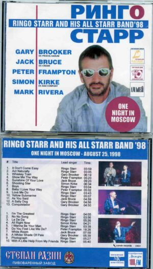 Ringo Starr - One Night In Moscow ( 2 CD!!!!! ) ( Live in Moscow , Russia , August 25th , 1998 )