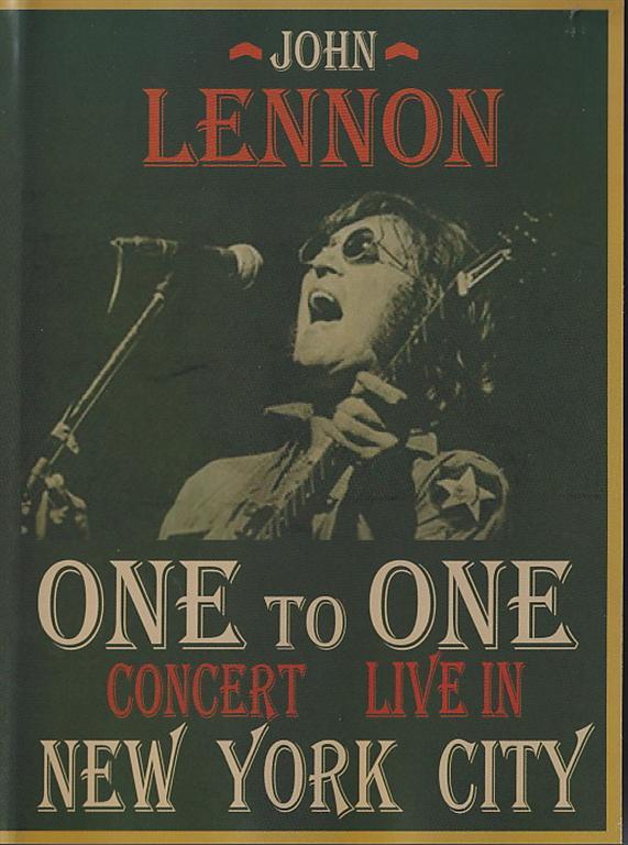 DVD John Lennon - One To One Concert - Live In New York City ( Gravity Ltd 1992 Version + Capitol 1985 Version )