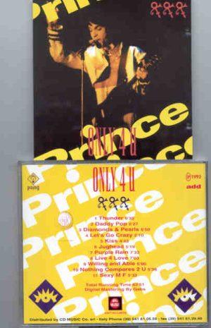 Prince - Only 4 U Volume Three  ( Big Music )