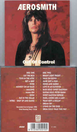 Aerosmith - Out Of Control ( 2 CD!!!!! SET ) ( Live In Europe 1994 ) ( KTS - NIKKO )