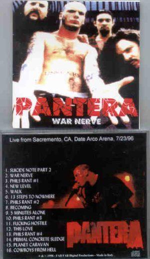 Pantera - War Nerve ( Live at Date Arco Arena ,  Sacramento , CA , USA , July 23rd , 1996 )