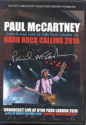DVD Paul McCartney - Hard Rock Calling 2010( 1 CD + 1 DVD set ) ( Broadcast LIVE at Hyde Park , London , UK )