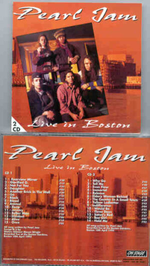 Pearl Jam - Live In Boston ( April 10th , 1994 ) ( On Stage Recs )