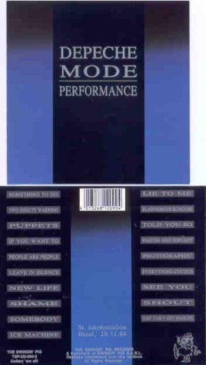 Depeche Mode - Performance ( 2 CD!!!!! set ) ( Swingin' Pig ) (Live In St Jakobsstadion , Basel , Nov 29th , 1984 )