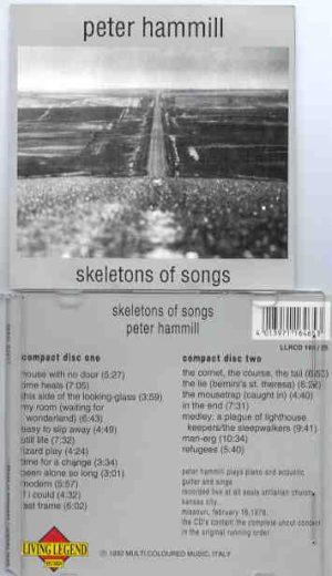 Van Der Graaf Generator - PETER HAMMILL Skeletons Of Songs ( 2 CD!!!!! set ) ( Living Legend )
