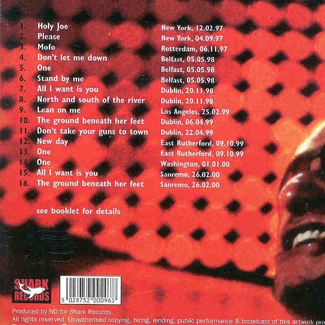 U2 - Popmart Rarities ( Shark Recs ) ( 16 Rare Live Tracks 1997 -2000 )