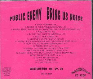 Public Enemy - Bring Us Noise  ( Live at Winterthur 04/09/1992 )