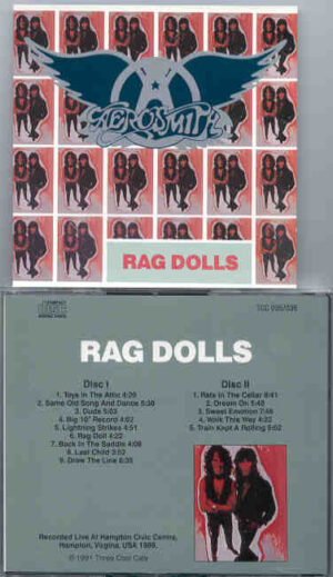 Aerosmith - Rag Dolls ( 2 CD!!!!! SET ) ( Hampton Civic Center , Hampton , Virginia , USA , 1988 )