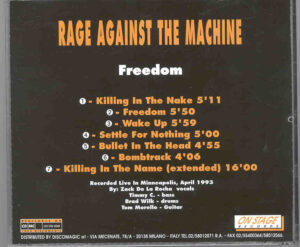 Rage Against The Machine - Freedom ( On Stage ) (Live in Minneapolis , April 1993 )
