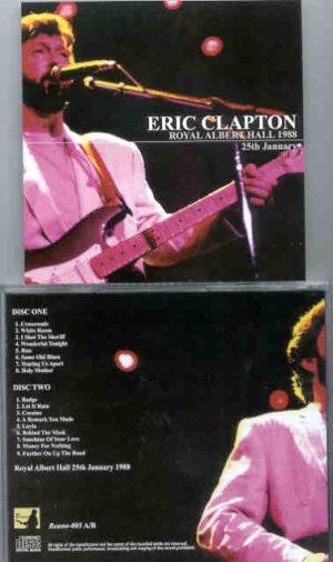 Eric Clapton - 9 Wonderful Nights At Royal Albert Hall 1988 ( January 25th ) ( 2 CD!!!!! set ) ( Beano )