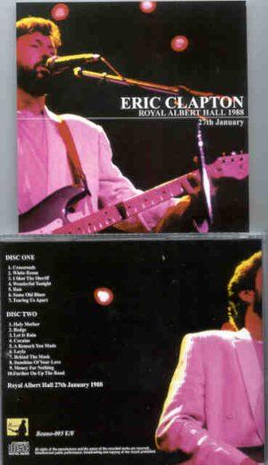 Eric Clapton - 9 Wonderful Nights At Royal Albert Hall 1988 ( January 27th ) ( 2 CD!!!!! set ) ( Beano )