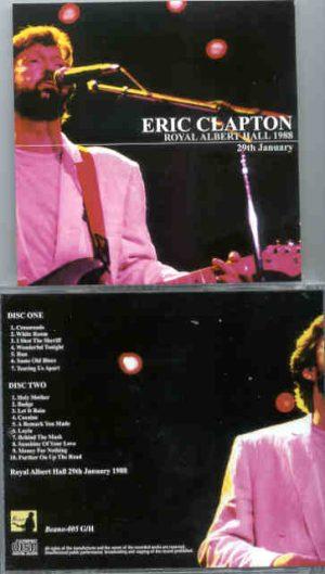 Eric Clapton - 9 Wonderful Nights At Royal Albert Hall 1988 ( January 29th ) ( 2 CD!!!!! set ) ( Beano )