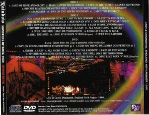 Rainbow - Monster Of Rock 1980 Definitive Edition ( 2 CD!!!!! + 1 DVD ) (Castle Donington, England 16th August 1980 & DVD Extra Taken From The Cozy's Personal Video Collection )