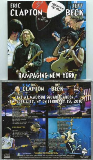 Jeff Beck - Rampaging New York ( 2 CD!!!!! ) ( w/ Eric Clapton )( Madison Square Garden , NYC , USA , February 19th , 2010 )