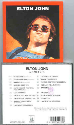 Elton John - Rebecca ( Oil Well ) ( Birmingham , UK , March 3rd , 1969 , Part 3 )