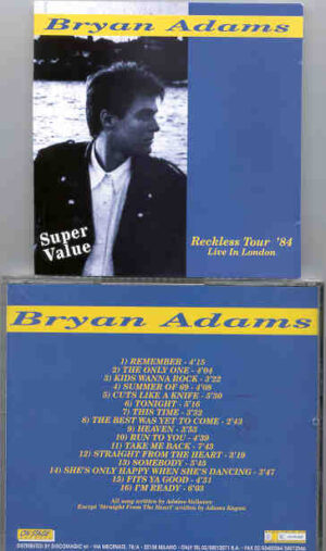 Bryan Adams - Reckless Tour '84 ( Live In London ) ( On Stage Recs )