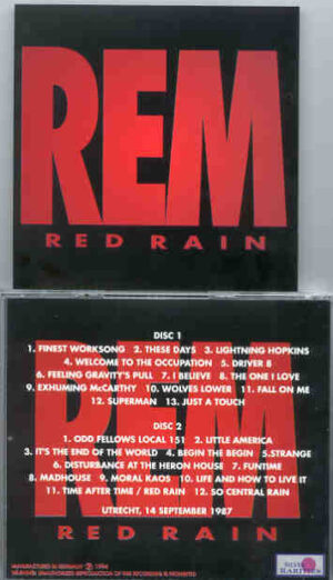 R.E.M. - Red Rain  ( Silver Rarities )
