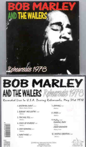 Bob Marley - 1978 Rehearsals  ( Swingin' Pig )