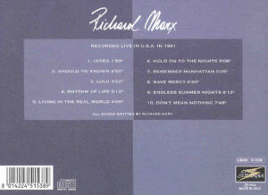 Richard Marx - USA 1991 ( Live Storm )