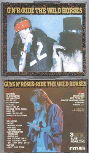 Guns N' Roses - Ride The Wild Horses ( 3 CD SET ) ( US Tour 1992 Soundboard )