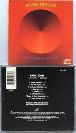 Robin Trower - For Earth Below ( Original Album on CD )