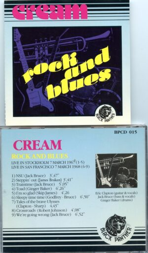 Cream - Rock And Blues ( Black Panther ) ( Stockholm March 7th , 1967 & San Francisco March 7th , 1968 )
