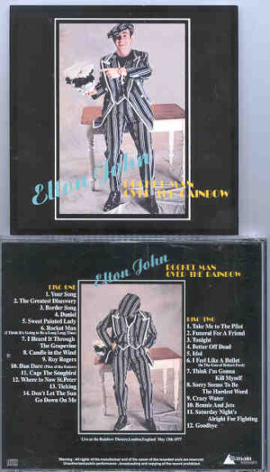 Elton John - Rocket Man Over The Rainbow ( With Ray Cooper , London 1977 ) ( 2 CD!!!!! SET )