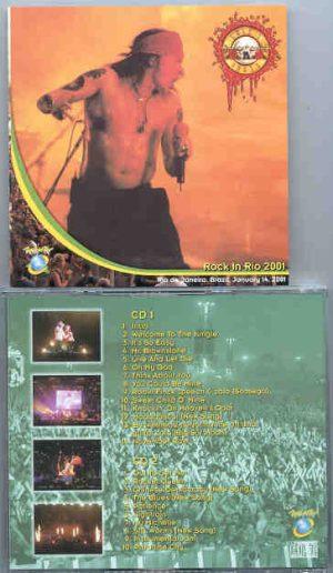 Guns N' Roses - Rock n Rio 2001 ( 2 CD!!!!! SET ) ( Rio de Janeiro , Brazil , January 14th , 2001 )