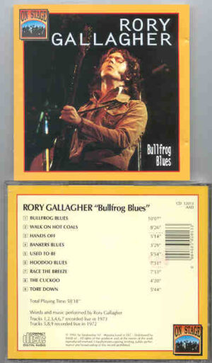 Rory Gallagher - Bullfrog Blues ( On Stage Recs ) ( Live 1972-1973 )