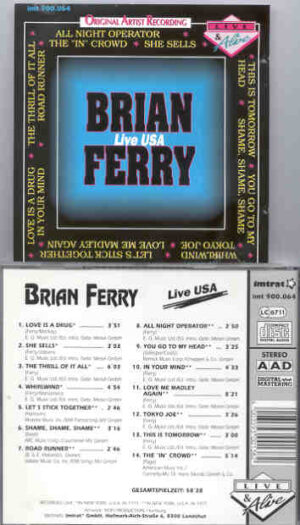 Brian Ferry & Roxy Music - Brian Ferry Live In The USA ( New York Concerts 1975 & 1977 )