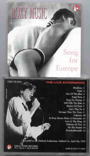 Brian Ferry & Roxy Music - Song For Europe ( Great Dane Recs. )