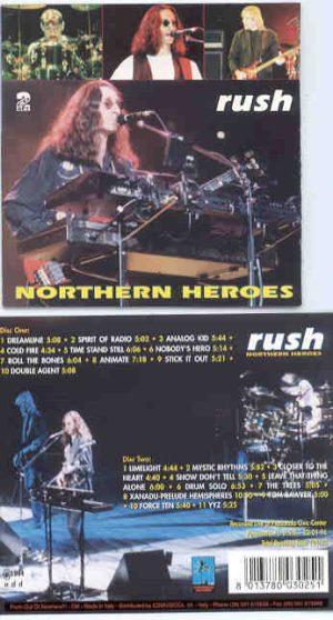 Rush - Northern Heroes ( 2 CD!!!!! SET ) ( Pensacola , Florida , January 22nd , 1994 )
