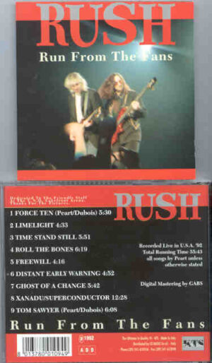 Rush - Run From The Fans ( Live in the USA 1992 ) ( KTS )