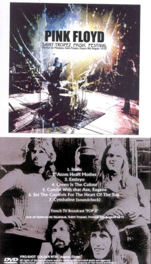 DVD Pink Floyd - Saint Tropez Music Festival 1970