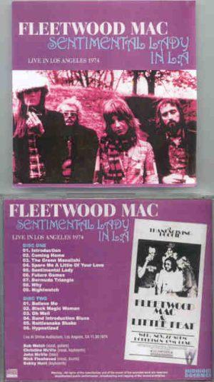 Lindsey Buckingham Fleetwood Mac - Sentimental Lady in L.A.  ( 2 CD!!!!! SET ) ( Shrine Auditorium , L.A. , CA , USA , November 30th , 1974 )